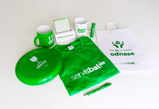 Set of promotional items