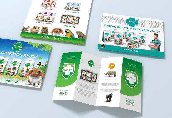 Nutrin s.r.o. – samples of printing materials – pet food